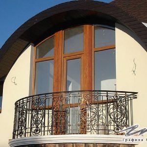 Ограждение балкона кованое ХК-ОБ-11