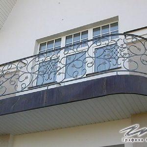 Ограждение балкона кованое ХК-ОБ-13