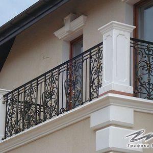 Ограждение балкона кованое ХК-ОБ-14