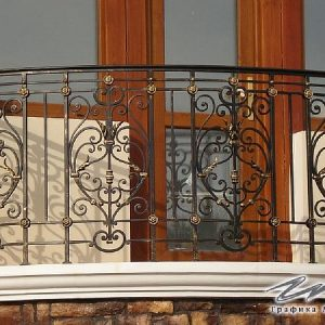 Ограждение балкона кованое ХК-ОБ-23