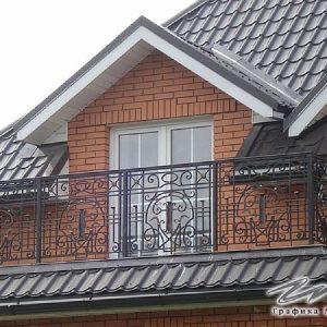 Ограждение балкона кованое ХК-ОБ-24