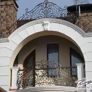 Ограждение балкона кованое ХК-ОБ-5