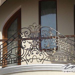 Ограждение балкона кованое ХК-ОБ-6