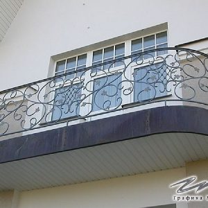 Перила лестничные кованые ХК-ПР-100