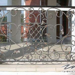 Перила лестничные кованые ХК-ПР-108