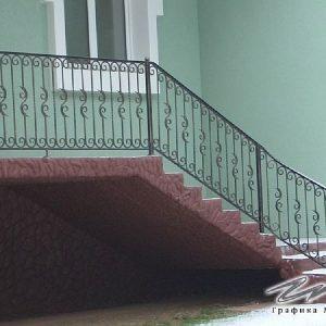 Перила лестничные кованые ХК-ПР-111