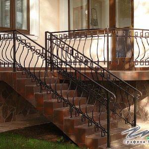 Перила лестничные кованые ХК-ПР-127