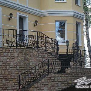 Перила лестничные кованые ХК-ПР-133