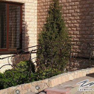 Перила лестничные кованые ХК-ПР-136