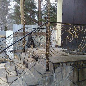Перила лестничные кованые ХК-ПР-23
