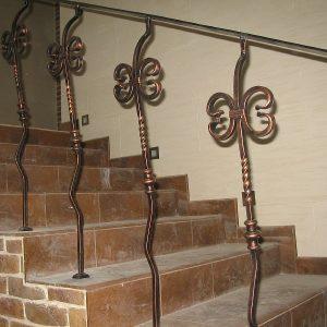 Перила лестничные кованые ХК-ПР-33