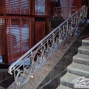 Перила лестничные кованые ХК-ПР-44