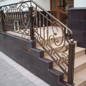 Перила лестничные кованые ХК-ПР-49