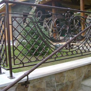 Перила лестничные кованые ХК-ПР-76