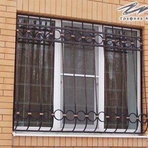 Решетка на окно кованая ХК-РО-12