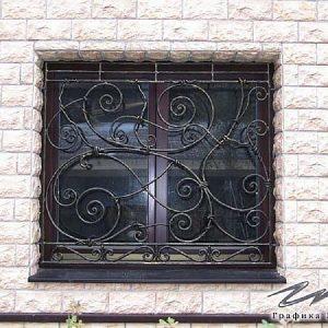 Решетка на окно кованая ХК-РО-7