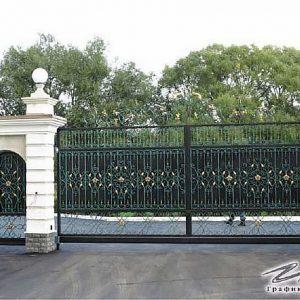 Ворота откатные кованые ХК-ВО-1