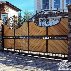 Ворота откатные кованые ХК-ВО-10
