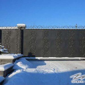 Ворота откатные кованые ХК-ВО-11