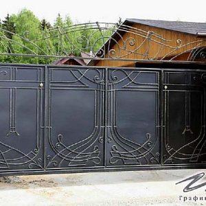 Ворота откатные кованые ХК-ВО-13