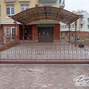 Ворота откатные кованые ХК-ВО-14
