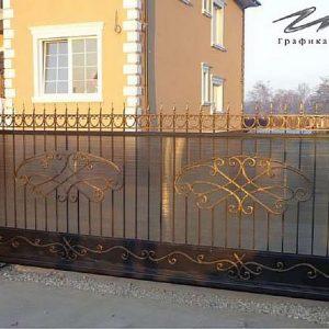Ворота откатные кованые ХК-ВО-15