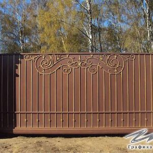 Ворота откатные кованые ХК-ВО-16