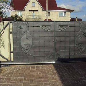 Ворота откатные кованые ХК-ВО-17