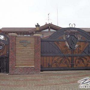 Ворота откатные кованые ХК-ВО-2