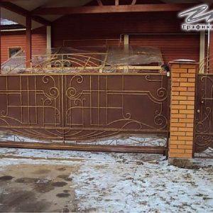 Ворота откатные кованые ХК-ВО-20