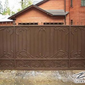 Ворота откатные кованые ХК-ВО-22