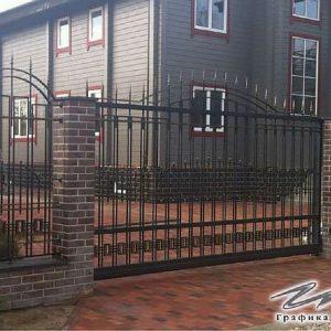 Ворота откатные кованые ХК-ВО-4