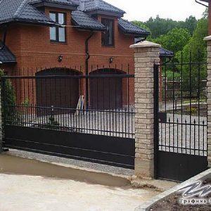 Ворота откатные кованые ХК-ВО-5