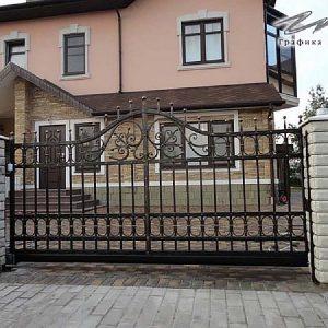 Ворота откатные кованые ХК-ВО-7