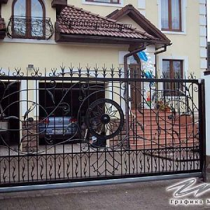 Ворота откатные кованые ХК-ВО-8