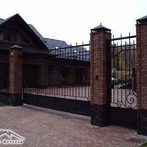 Ворота откатные кованые ХК-ВО-9