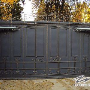 Ворота распашные кованые ХК-ВР-1