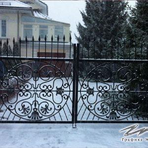 Ворота распашные кованые ХК-ВР-11