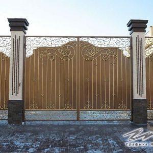 Ворота распашные кованые ХК-ВР-12