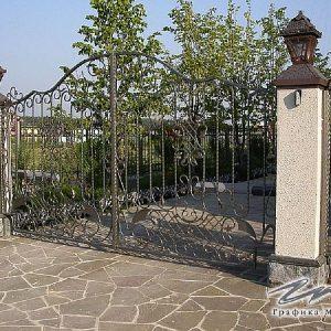 Ворота распашные кованые ХК-ВР-13