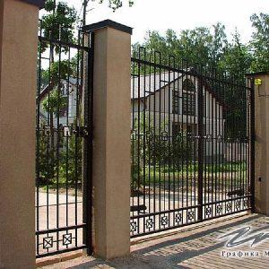 Ворота распашные кованые ХК-ВР-14