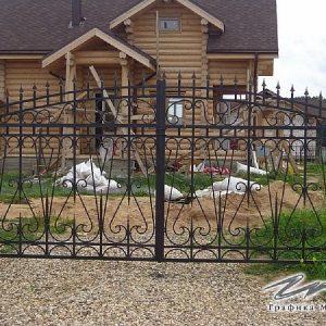 Ворота распашные кованые ХК-ВР-16
