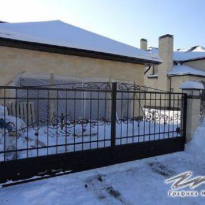 Ворота распашные кованые ХК-ВР-2