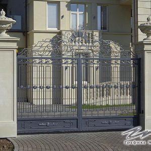 Ворота распашные кованые ХК-ВР-20
