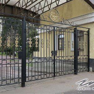 Ворота распашные кованые ХК-ВР-22