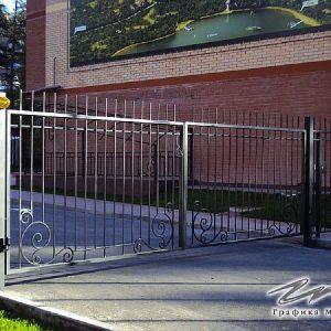 Ворота распашные кованые ХК-ВР-24