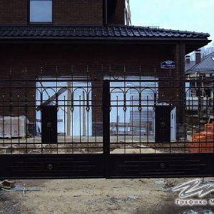Ворота распашные кованые ХК-ВР-25