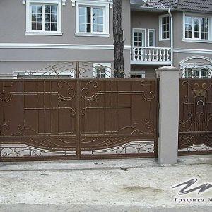 Ворота распашные кованые ХК-ВР-27