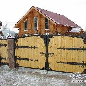 Ворота распашные кованые ХК-ВР-3