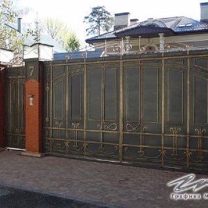 Ворота распашные кованые ХК-ВР-4